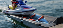 See how to load and launch a Jet ski