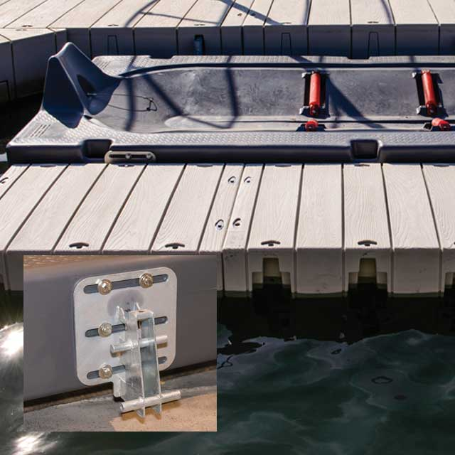 Jet ski port accessories for Dandy Dock floating dock