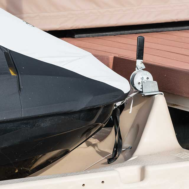Jet ski port accessories for Dandy Dock floating dock