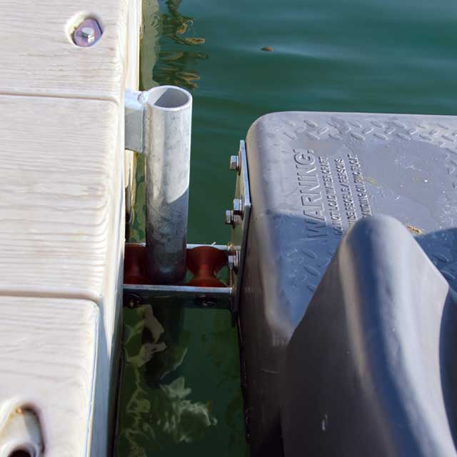 Attach to Connect-A-Dock floating dock 2000 Series